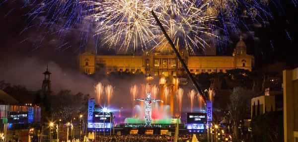 fuegos artificiales barcelona